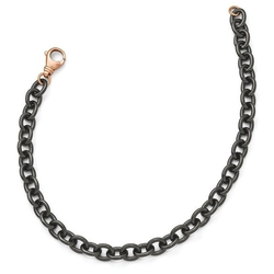 JewelryJungle - Massimo Black Rhodium Link Necklace