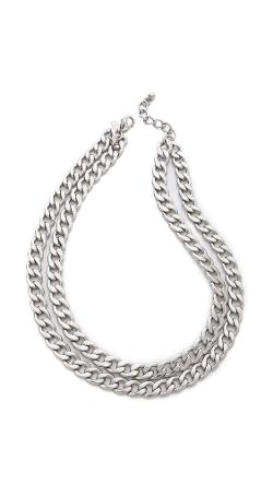 Kenneth Jay Lane  - Double Layer Chain Necklace