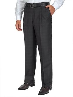 Paul Fredrick - Tonal Plaid Dress Pants
