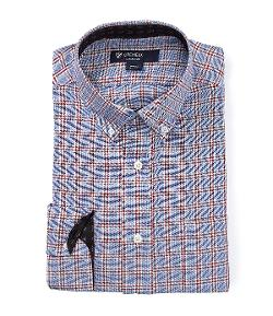 Cremieux  - Graphic-Checker Long-Sleeve Button-Down Shirt
