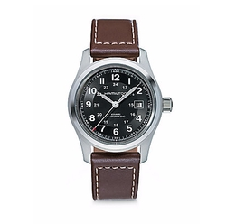 Hamilton - Khaki Field Stainless Steel Leather Strap Watch