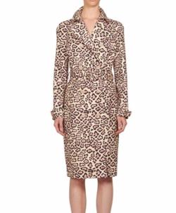 Givenchy - Jaguar-Print Cotton Trench Coat