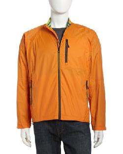 Robert Graham  - Lightweight Windbreaker Jacket, Orange