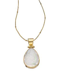 Mali Sabatasso  - Gold And Opal Druzy Pendant