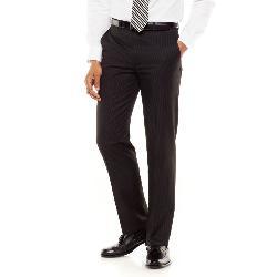 Chaps  - Classic-Fit Pinstripe Flat-Front Suit Pants