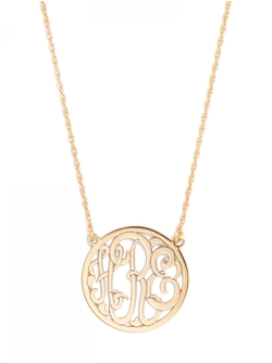 Baublebar - Circle Script Letter Monogram Necklace