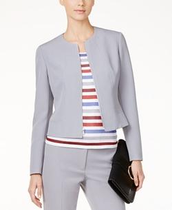 Anne Klein - Seamed Zip-Front Jacket