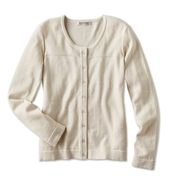 Orvis - Cashmere Tipped Cardigan Sweater