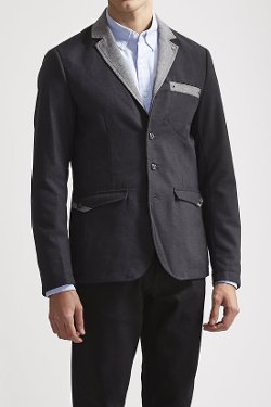 Trash Nouveau  - Slim Shawl Collar Blazer