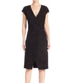 Polo Ralph Lauren - Suede Cap-Sleeve Wrap Dress