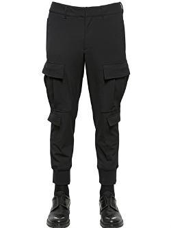 Neil Barrett  - Rib Hem Wool Blend Cargo Trousers