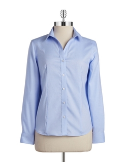 Jones New York - Cotton Button-Down Blouse