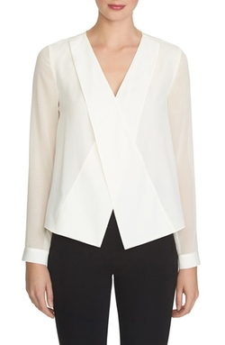 1.State - Long Sleeve Wrap Blouse