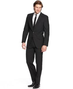 Hugo Boss  - Suit Black Solid Extra Slim Fit