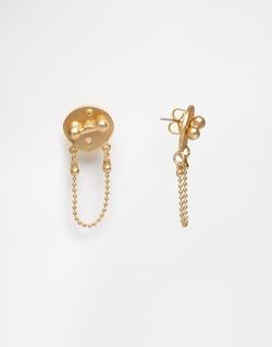 Pieces - Noella Back Chain Drop Earrings