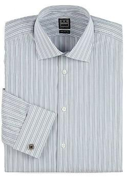 Ike Behar  - Classic-Fit Striped Cotton Dress Shirt