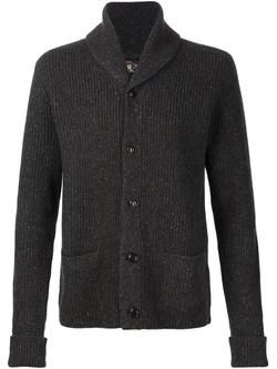 RRL  - Ribbed Shawl Collar Cardigan