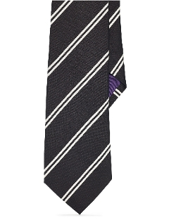 Ralph Lauren - Striped Silk Faille Tie