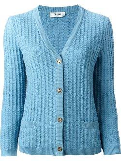 Céline Vintage  - Cable Knit Cardigan