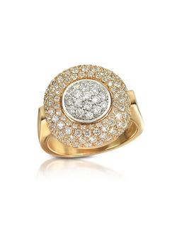 Forzieri - Diamond Pave Gold Ring