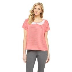 Isani For Target - Knit Peter Pan Collar Tee Shirt