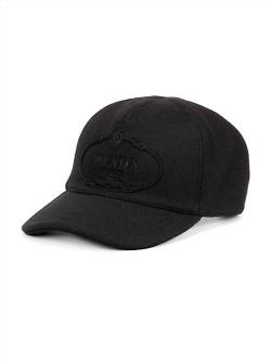 Prada  - Wool Logo Baseball Cap