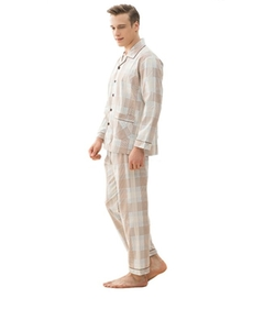 Warmjama  - Latest Plaid Cotton Notch Collar Pajama Set