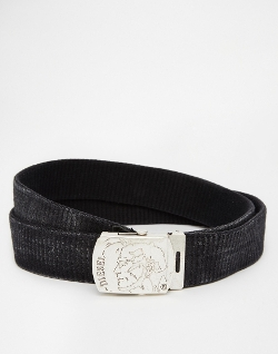 Diesel - Bimine Plaque Leather Belt