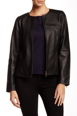 Eileen Fisher - Genuine Leather Jacket