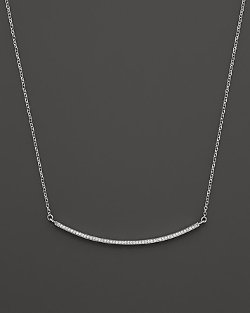 Bloomingdales - Diamond  Bar Necklace