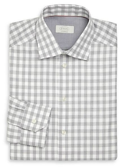 Eton of Sweden  - Gingham Cotton Dress Shirt