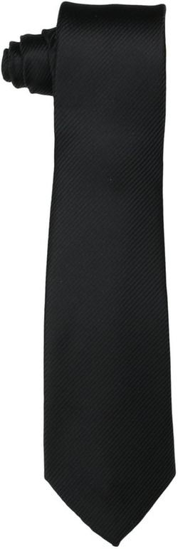 Little Black Tie - Dimension Solid Necktie