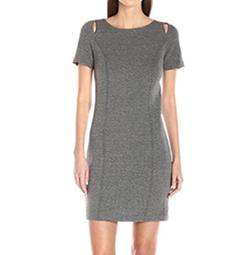 Kensie - Basket Weave Knit Dress