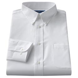 Croft & Barrow - Solid Button-Down Collar Dress Shirt