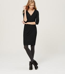 Loft - Long Sleeve Wrap Dress