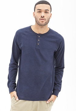 Forever 21 - Slub Knit Henley Shirt