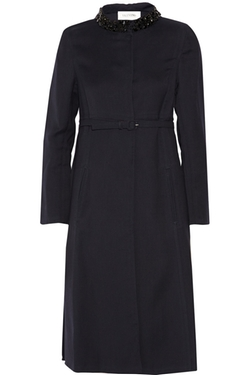 Valentino - Embellished Silk & Wool-Blend Coat