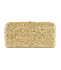 Kate Landry - Lamé Box Frame Clutch Bag