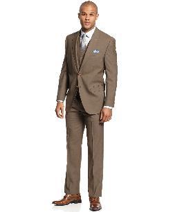 Lauren Ralph Lauren  - Olive Solid Vested Suit