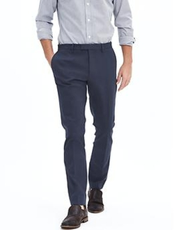 Banana-Republic - Skinny Corded Twill Dress Pant