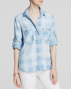 Bella  - Chambray Gingham Dahl Shirt