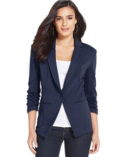 Style & Co. - Solid-Knit Fitted Blazer