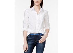 Tommy Hilfiger  - Solid Button-Down Shirt