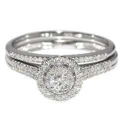 Rings-Midwestjewellery.Com - Solitaire Bridal Wedding Ring Set