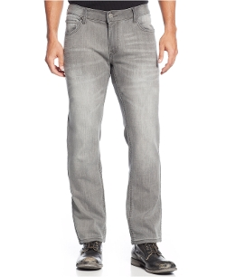 INC International Concepts - Tony Knit Slim-Fit Straight-Leg Jeans