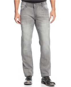 INC International Concepts - Tony Knit Slim-Fit Straight-Leg Jeans