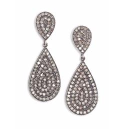 Nina Gilin - Diamond Teardrop Earrings