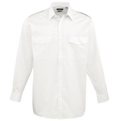 Premier - Long Sleeve Pilot Plain Work Shirt