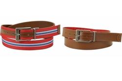 Original Penguin - Reversible Strip Web/leather Belt
