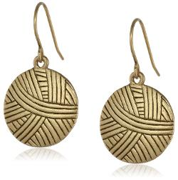 The Sak  - Batik Basic Dangle Gold Drop Earrings